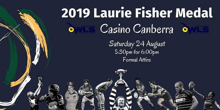 2019 Laurie Fisher Medal: Owls Rugby Presentation Night Event Banner