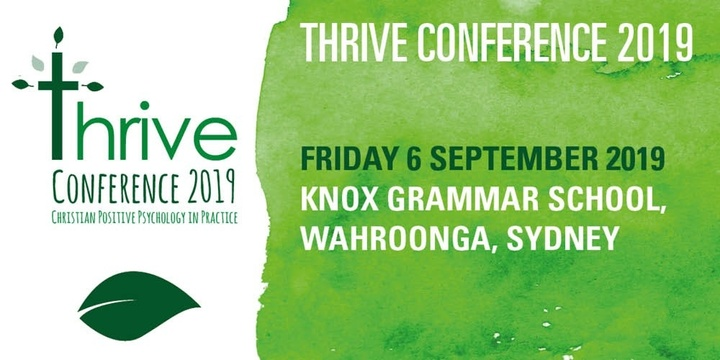 Thrive Conference 2019, Christian Positive Psychology in Practice Event Banner