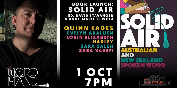 Word in Hand Oct: Solid Air book launch Event Banner