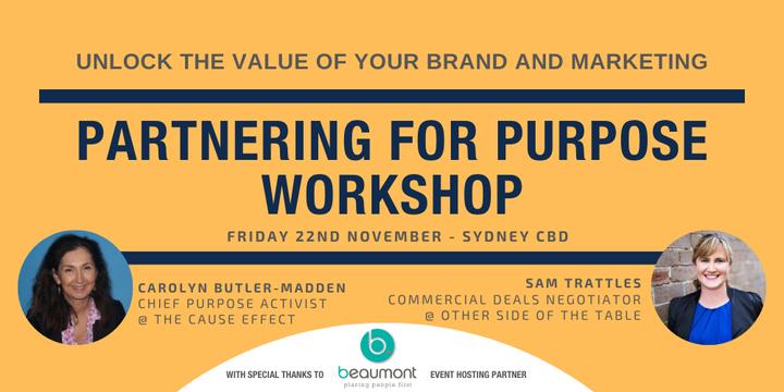 Partnering For Purpose Workshop Event Banner