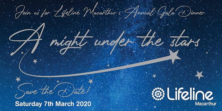 Lifeline Macarthur - Annual Gala Dinner Event Banner