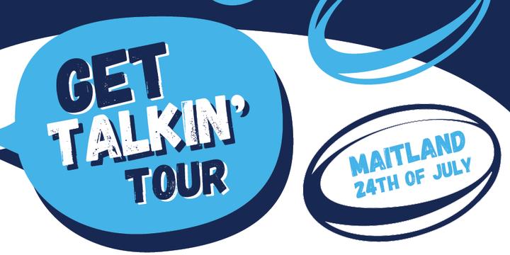 Get Talkin' Tour    Maitland Event Banner