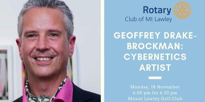 Geoffrey Drake-Brockman on Cyberkinetic Art Event Banner
