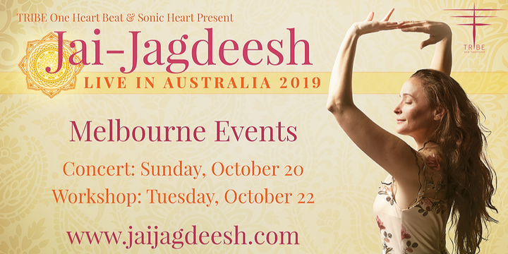 Jai-Jagdeesh Melbourne OCT 20th Concert and OCT 22nd Kundalini Workshop | World Tour Event Banner