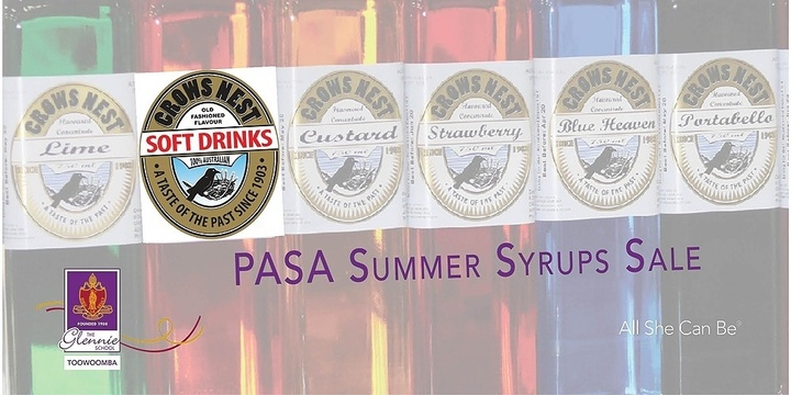 PASA Summer Syrups Sale Event Banner