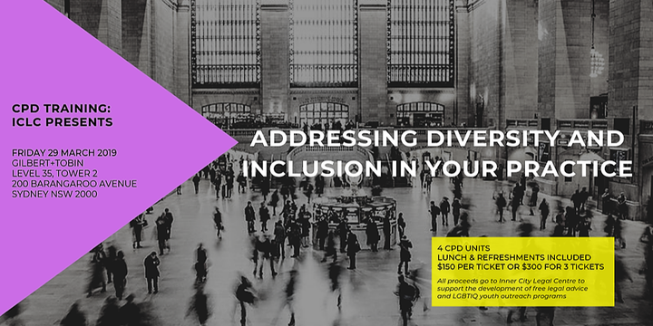 CPD event -  ICLC presents: Addressing diversity and inclusion in your practice Event Banner