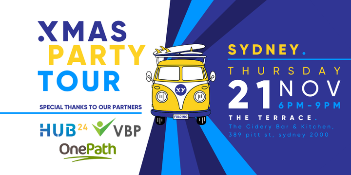 XMAS PARTY Tour Sydney - 21st November Event Banner