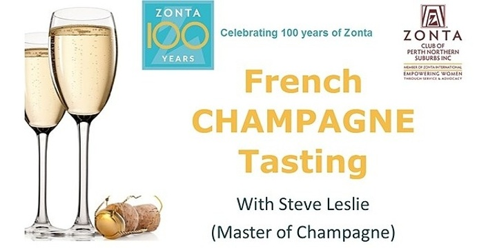 French Champagne Tasting Event Banner