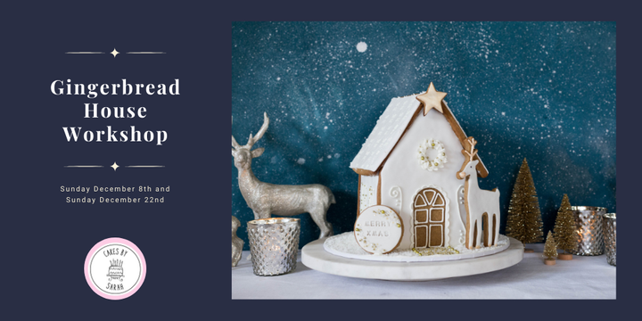 Gingerbread House Workshop Event Banner