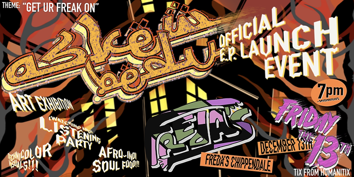 Askew Bedu - EP Launch and Listening Party Event Banner