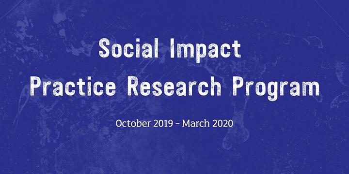 Social Impact Practice Research Program Event Banner