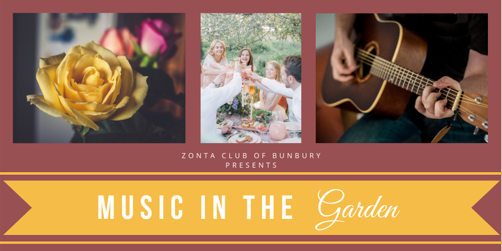 Music in the Garden Event Banner