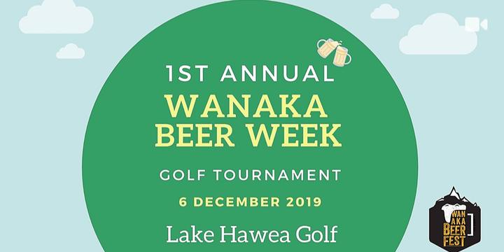 Wanaka Beer Festival Golf Tournament Event Banner