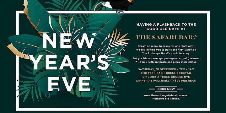 New Year's Eve at the Safari Bar Event Banner