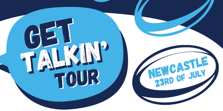 Get Talkin' Tour |  Newcastle Event Banner