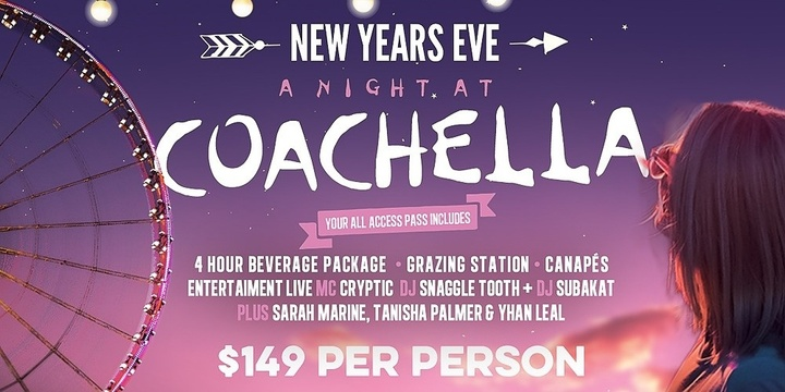 A Night at Coachella NYE Event Banner