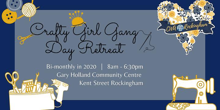September Crafty Girl Gang Day Retreat Event Banner
