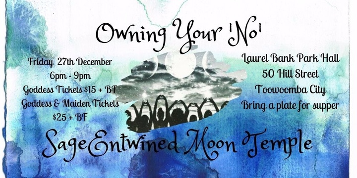 SageEntwined Moon Temple ~ December New Moon Circle ~ Owning Your 'No' Event Banner