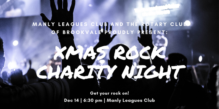 Xmas Rock Charity Night Event Banner