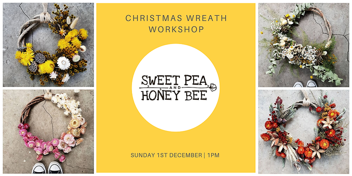 Christmas Wreath Making Workshop Event Banner