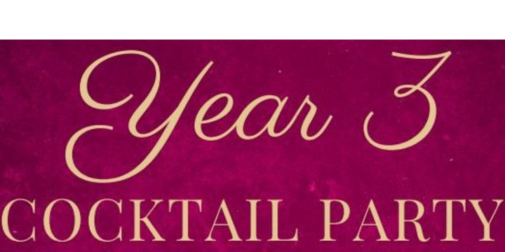 Year 3 Cocktail Party Event Banner