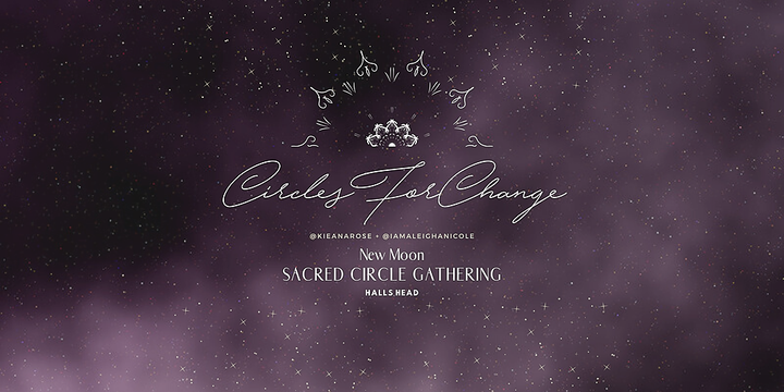 Circles For Change | New Moon Sacred Circle Event Banner