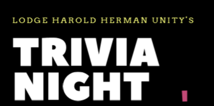 Lodge Harold Herman Unity Trivia Night Event Banner