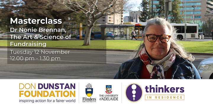 Masterclass: The Art & Science of Fundraising with Dr Nonie Brennan Event Banner