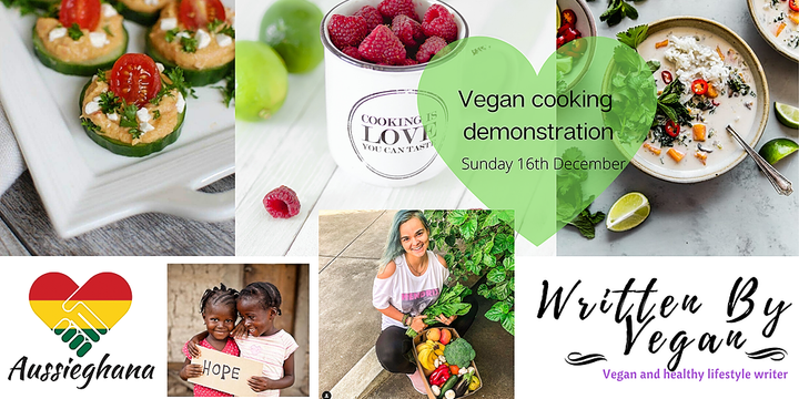 Vegan Cooking Demonstration (and eating) Event Banner