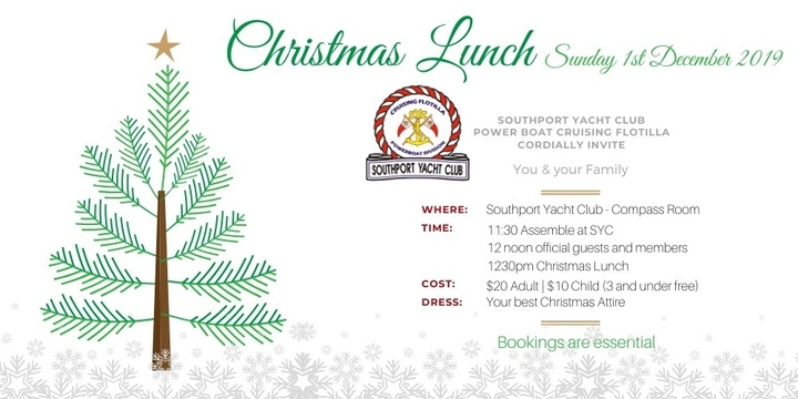 Power Boat Cruising Flotilla - Christmas Lunch Event Banner