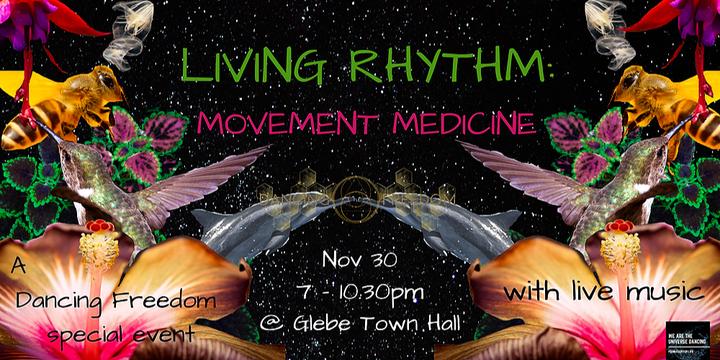 Living Rhythm: Movement Medicine Event Banner