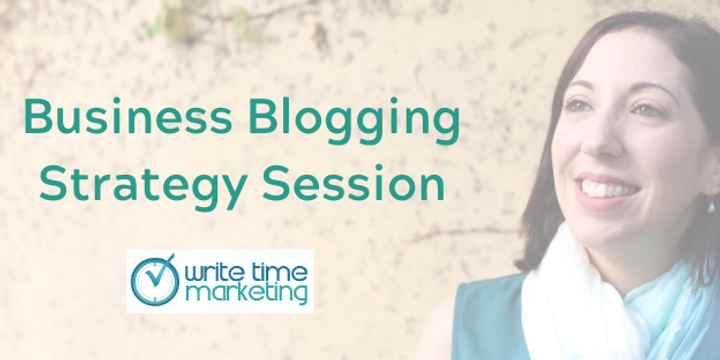 Business Blogging Strategy Session Event Banner