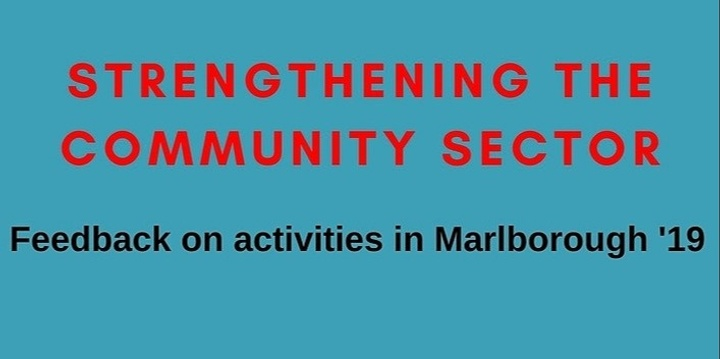 Strengthening the Sector - Community Governance in Marlborough Event Banner