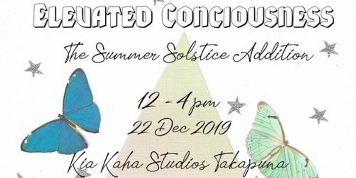 Elevated Consciousness - Summer Solstice Workshop Event Banner
