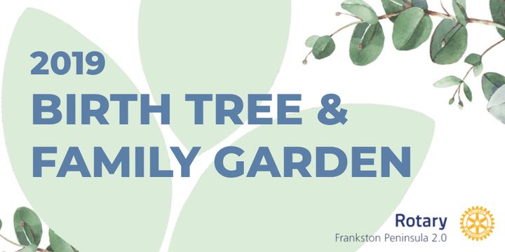 Birth Tree and Family Garden 2019 Event Banner