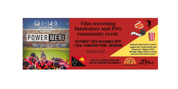 Power Meri film screening and PNG community event Event Banner