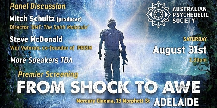 'From Shock to Awe' Premier Screening - Adelaide Event Banner