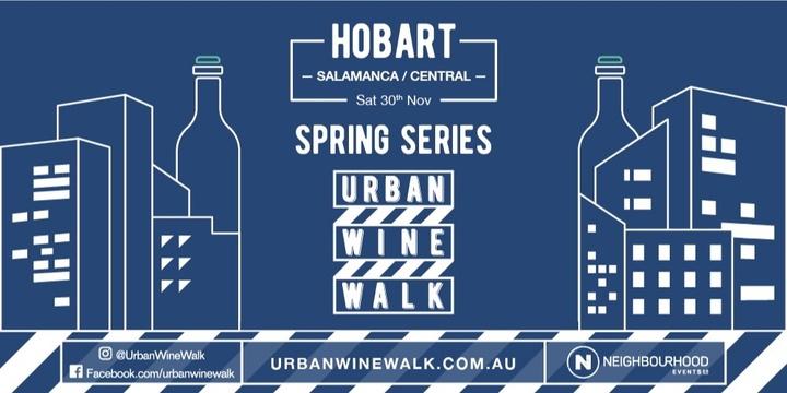 Urban Wine Walk Hobart (Salamanca / Central) Event Banner
