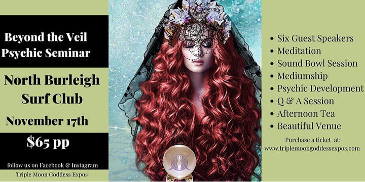 Beyond the Veil Psychic Seminar Event Banner