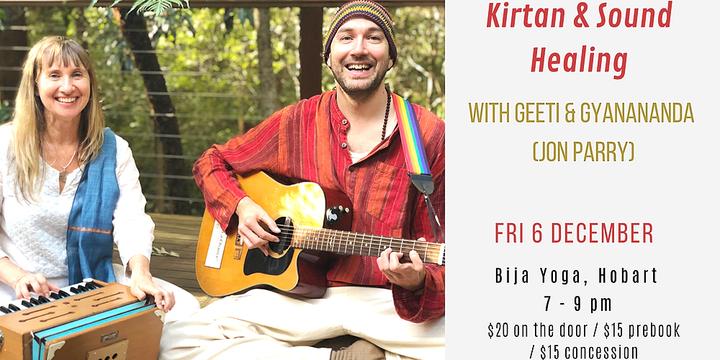 Kirtan & Sound Healing - Hobart Event Banner