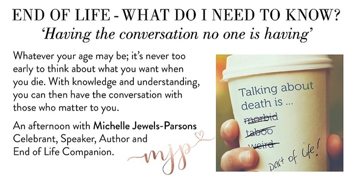 'End of Life - What do I need to know?' Event Banner