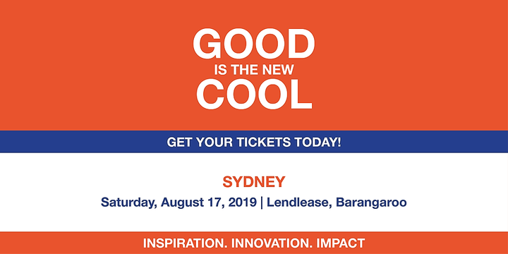 Good is the New Cool Sydney 2019 Event Banner