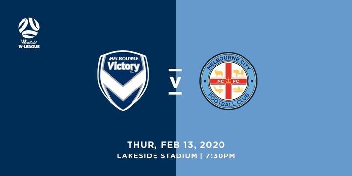 Westfield W-League: Melbourne Victory vs Melbourne City Event Banner