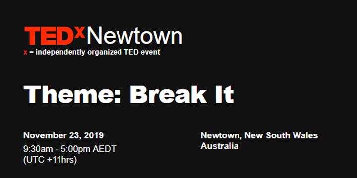 TEDxNewtown 2019 Event Banner