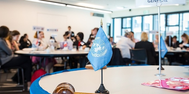 Modern slavery - today's greatest threat to human rights? Be a UN Delegate for a day to debate this vital topic. Event Banner