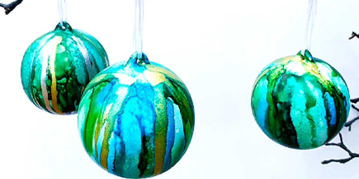 Christmas personalise bauble workshop Event Banner