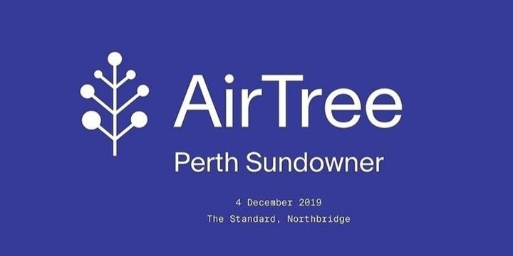 AirTree Perth Sundowner   West Tech Fest Event Banner