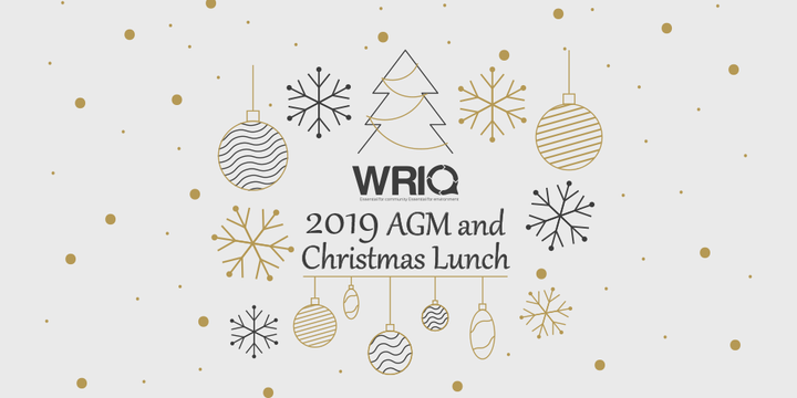 WRIQ 2019 AGM and Christmas Lunch Event Banner