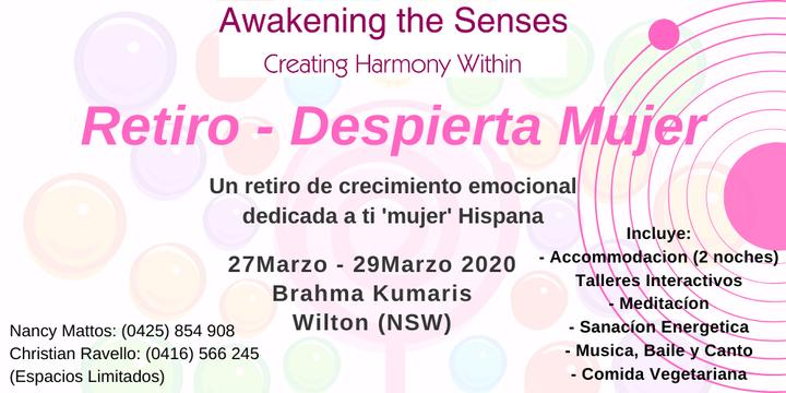 Despierta Mujer - Retiro 2020 Event Banner