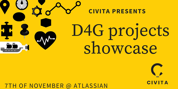 D4G projects showcase @ Atlassian Event Banner